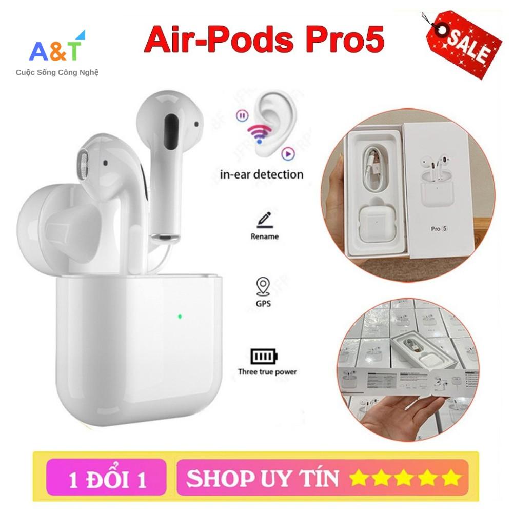 Tai Nghe Bluetooth Pro 5 Cao Cấp, Định vị đổi tên, Siêu nhạy, âm thanh đỉnh cao, Bảo Hành 1 đổi 1 ATSTORES