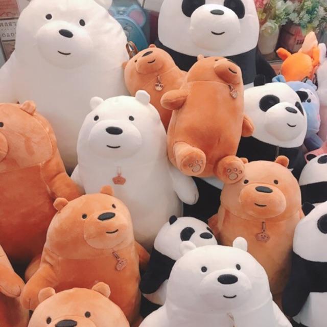 Gấu bông 3 chú gấu WE BARE BEARS [ SIÊU YÊU] [ SIÊU MỊN, SIÊU MỀM] [ ẢNH THẬT CHỤP TẠI SHOP]