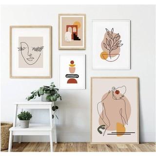 Bộ tranh treo tường Canvas phong cách Minimalist (Có ảnh thật) – Tặng kèm đinh ba chân