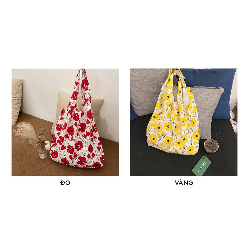 Túi vải bố đeo chéo tote đựng đồ thời trang TX508