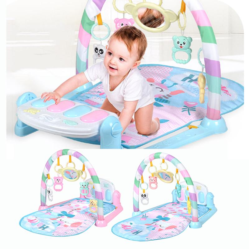 3 In 1 Animal Baby Kid Playmat Musical Pedal Piano Activity Fitness Gym Mat