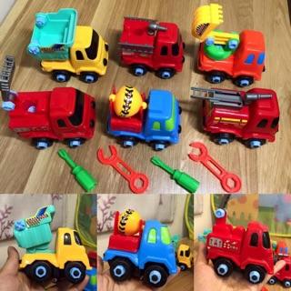 Bộ 6 xe ô tô tháo lắp cho bé