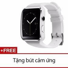Đồng hồ SmartWatch_X6 màn hình cong trắng tặng bút cảm ứng