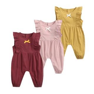 Áo liền quần Sanlutoz bằng cotton phong cách công chúa cho bé gái sơ sinh (3 màu)