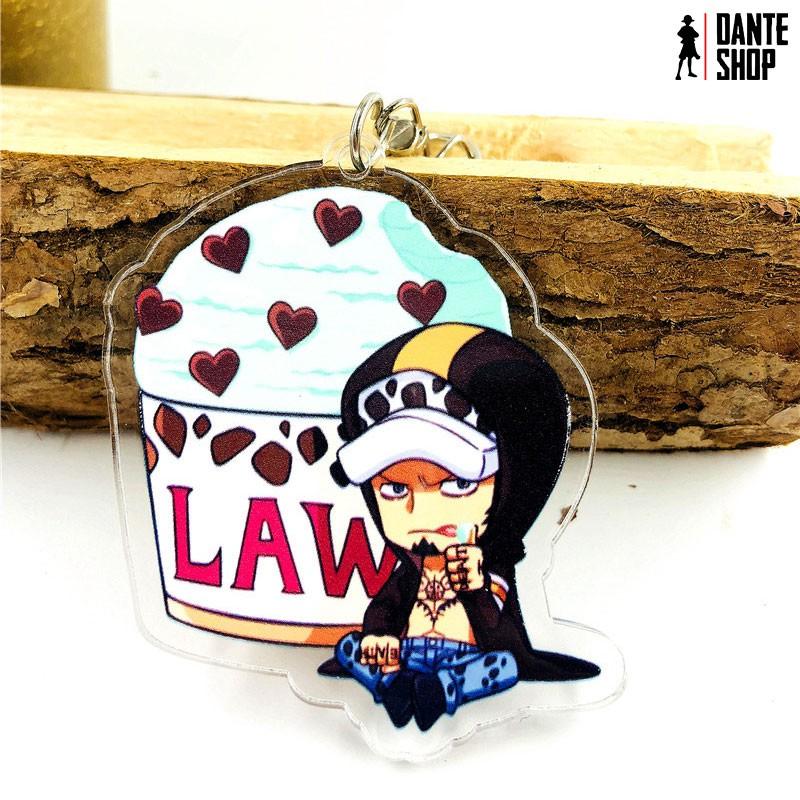 Móc Khóa Mica One Piece - Mô hình luffy, zoro, Law, Chopper