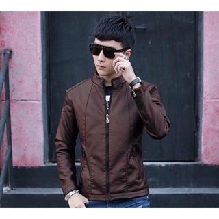 Áo khoác da nam lốt lông cực chất phong cách Hàn Quốc