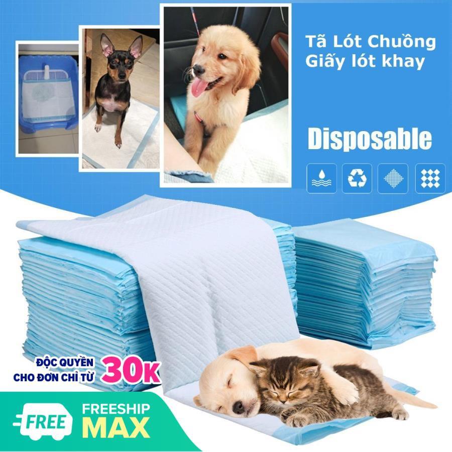 (1 bịch) tã bỉm cho chó Bỉm tã lót chuồng thú cưng hoặc lót sàn xe|Bịch 33x45cm (S)