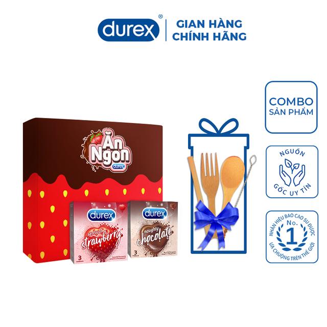 Bộ sản phẩm Durex – Ăn ngon trọn vị (2 hộp bao cao su 3 bao/hộp + bộ muỗng nĩa)