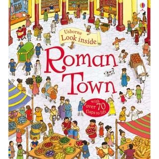 Sách lật mở Look Inside Roman Town tìm hiểu thành phố La Mã cổ đại Usborne thumbnail