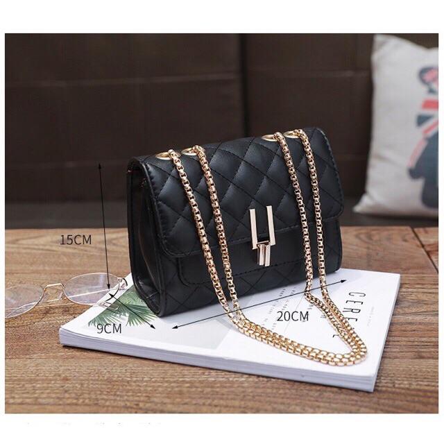 Túi xách nữ da pu đẹp loại 1, khóa y 3 ngăn lót da đẹp trẻ trung phong cách, dễ phối đồ, mã T38