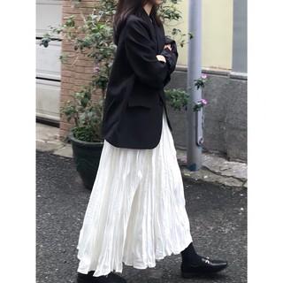 (HÀNG SẴN) Chân váy voan trắng midi dáng dài xếp ly nhăn nhẹ nhàng vintage Hàn Quốc thumbnail