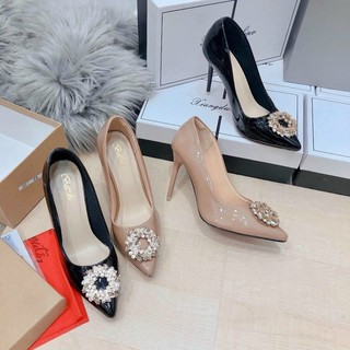 Giày cao gót hoa đá 7p sang chảnh mã H88 thumbnail