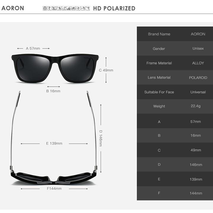 Kính mát phân cực thời trang AORON 387 - NVfashion
