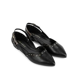 [Mã FASHIONMALLT4 giảm 15% đơn 150k] Giày búp bê mũi nhọn đính đinh tán - Sablanca 5050BB0043