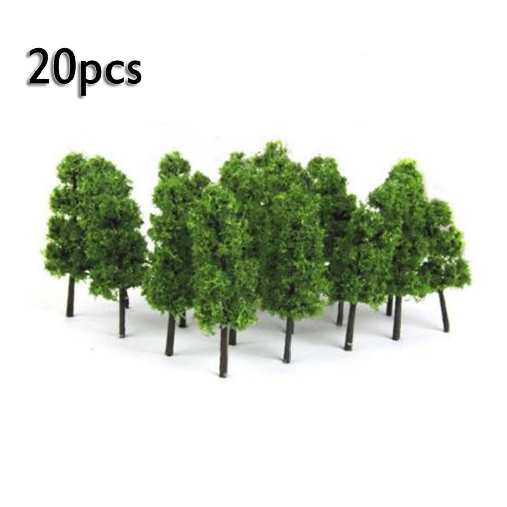 ☽20x 6cm Model Trees Train Railroad Diorama Wargame Park Scenery Small Miniature