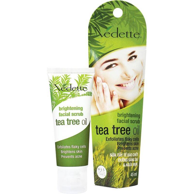Sữa Tẩy Tế Bào Chết Tràm Trà VEDETTE Brightening Facial Scrub Tea Tree Oil 45ml