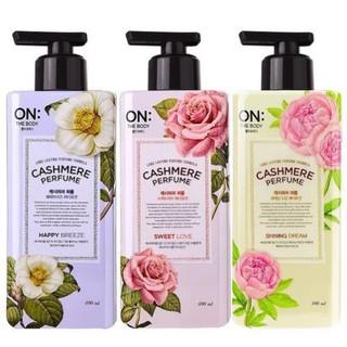 Sữa Dưỡng Thể Nước Hoa On The Body Cashmere Perfume Hàn Quốc 400ml