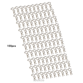 100pcs/set Durable Model Car Pins Remote Control Spare Parts Stainless Steel Toy Universal R Shape Body Shell Clip