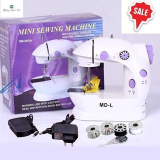 [FREESHIP] Máy may mini máy khâu mini có đèn led may thêu vá tại gia đình rất tiện dụng.