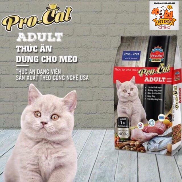 PRO CAT ADULT 400g - Thức ăn cho mèo trưởng thành