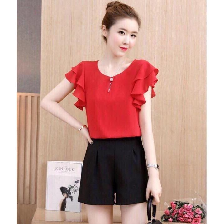 Áo Kiểu Thời Trang Hot Trend Màu Đỏ