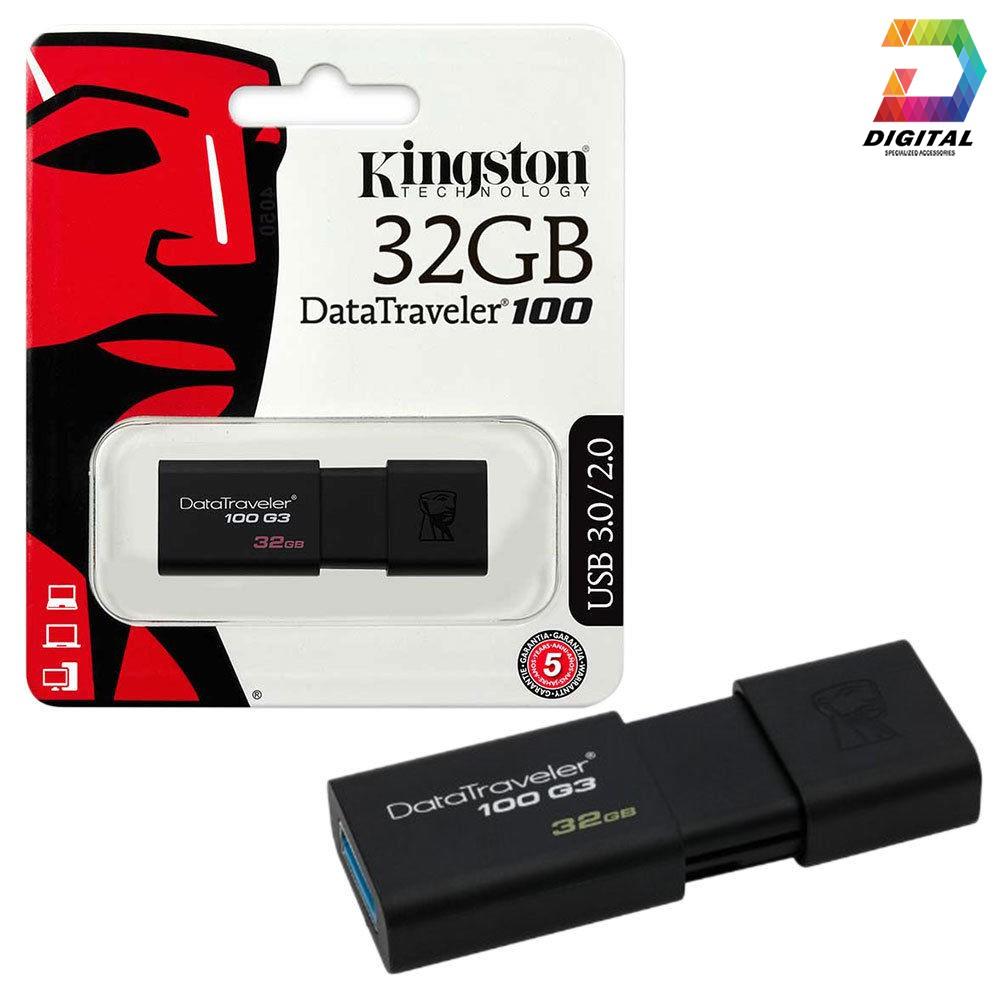 [Mã ELFLASH5 giảm 20K đơn 50K] USB 32GB Kingston Tốc Độ Cao 3.0 Chính Hãng