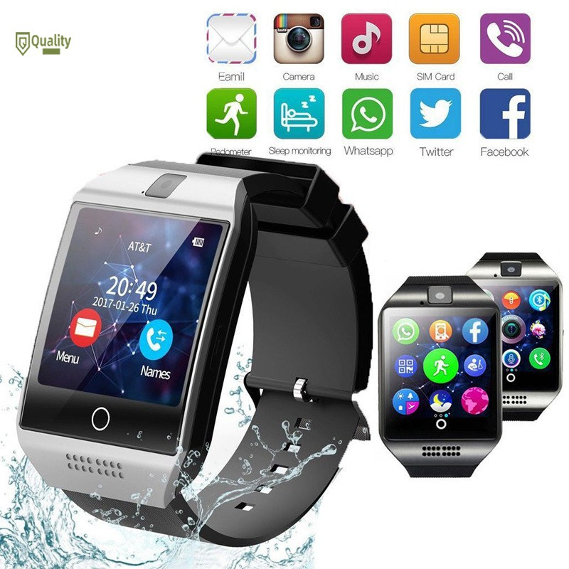 VN❤ Bluetooth Smart Watch Camera Touching Screen Smart Sport Band for IOS Android