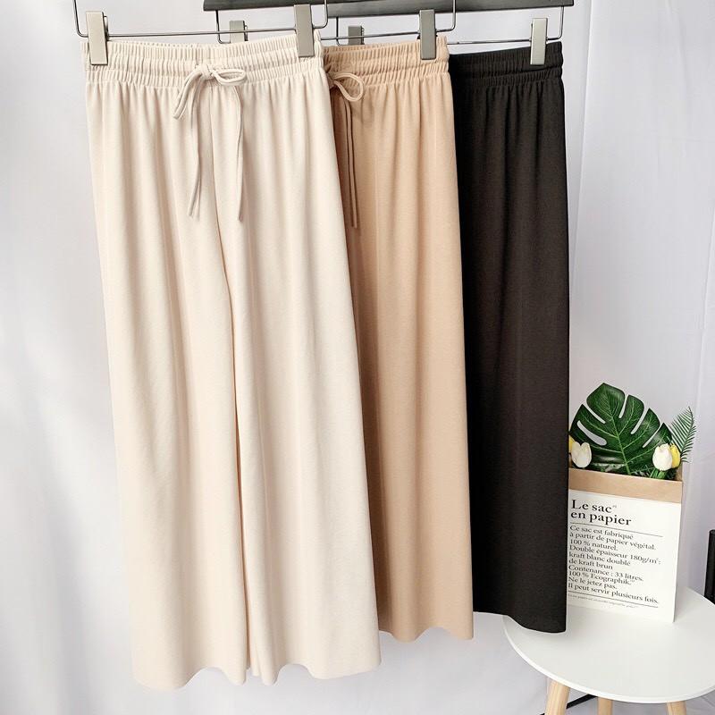 [SALE SP MỚI] Quần Cullotes vải tăm dài 95 cm siêu mát