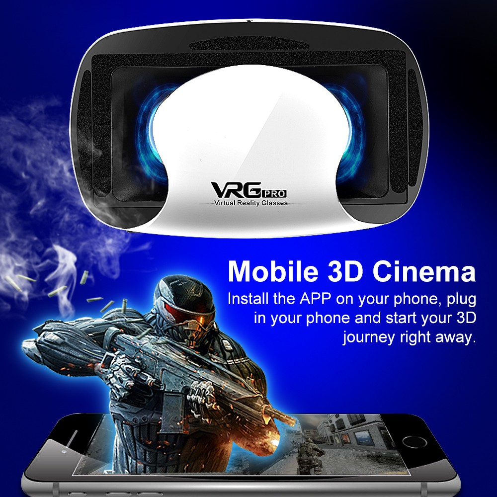 3D VR Glasses 5~7inch Smartphone Multifunctional Head-mounted VR Headset Glasses Travel Multifunctional Head-mounted