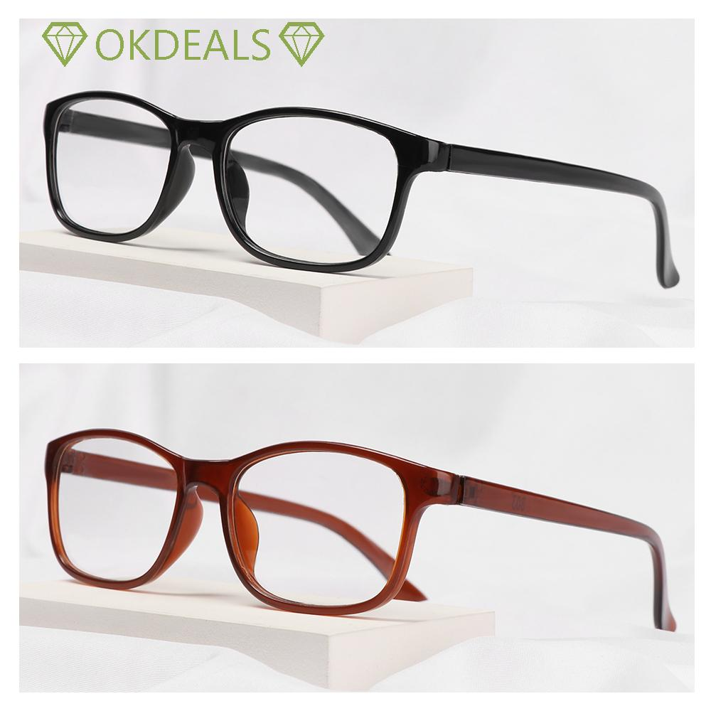 💎OKDEALS💎 Women Reading Glasses Elderly Accessories Vision Care Presbyopia Eyewear +1.00~+4.0 Diopter Ultra Light Resin Lightweight Men Eyeglasses/Multicolor