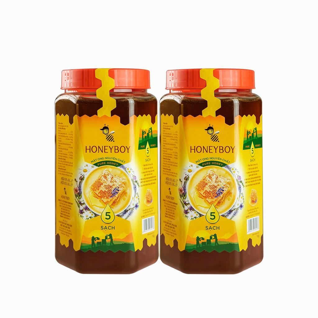 Bộ 2 Mật Ong Thiên Nhiên 5 Sạch Honeyboy 1kg - 3148801 , 276671621 , 322_276671621 , 371800 , Bo-2-Mat-Ong-Thien-Nhien-5-Sach-Honeyboy-1kg-322_276671621 , shopee.vn , Bộ 2 Mật Ong Thiên Nhiên 5 Sạch Honeyboy 1kg