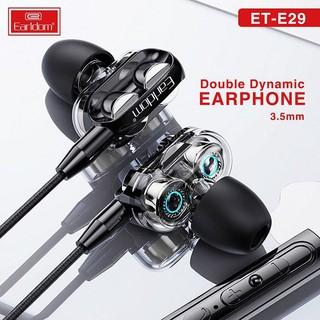 Tai nghe Jack tròn 3.5mm Dual Driver Chính hãng Earldom E29