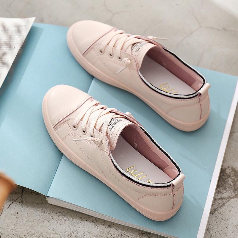 Giày nữ cổ len kẻ 3 màu