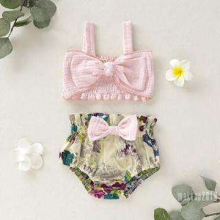 Mu♫-Baby Girl Kids Summer Toddler Outfits Clothes 2PCS Set