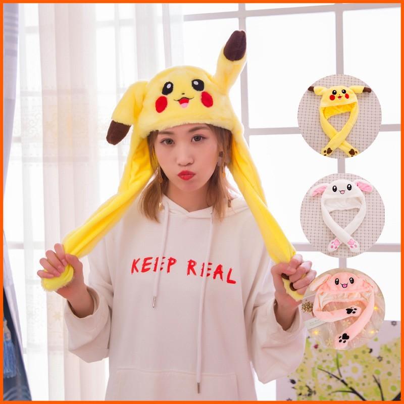 Mũ tạo hình thỏ Pikachu xinh xắn phối 2 dây dài - 13758039 , 1407920146 , 322_1407920146 , 117100 , Mu-tao-hinh-tho-Pikachu-xinh-xan-phoi-2-day-dai-322_1407920146 , shopee.vn , Mũ tạo hình thỏ Pikachu xinh xắn phối 2 dây dài