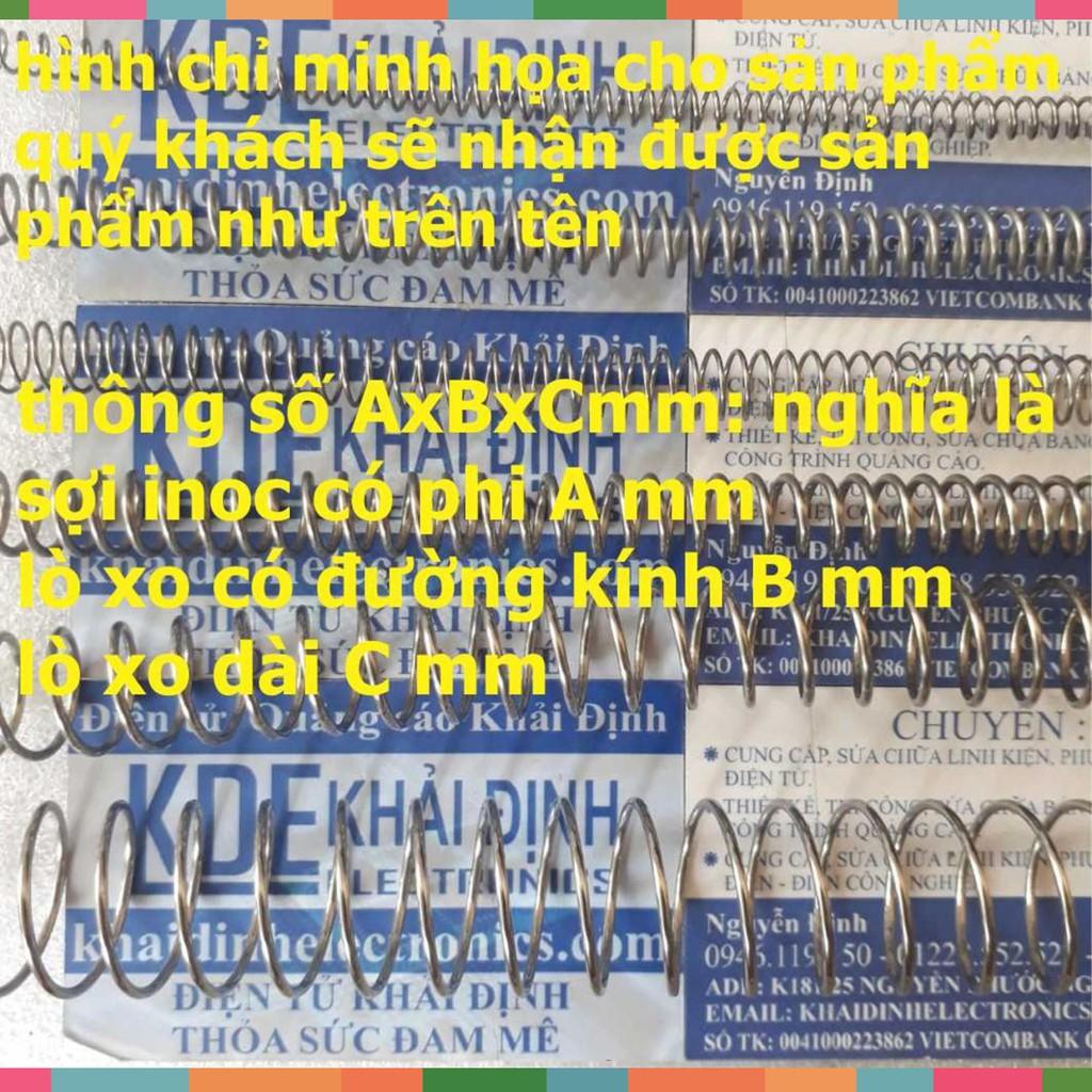 (CỰC RẺ) lò xo 304, LOẠI NÉN (1 cái) sợi inox phi 1.0/1.2/1.5mm kde3956