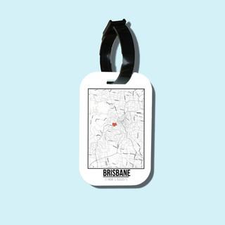 Travel tag cho túi xách balo du lịch in hình Love City - Brisbane thumbnail