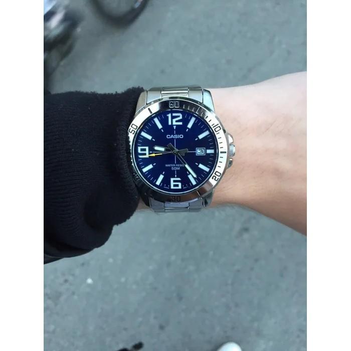 Đồng hồ nam dây kim loại Casio Anh Khuê MTP-VD01D-2BVUDF