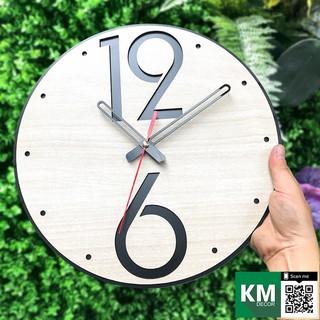 Đồng hồ treo tường mang phong cách hiện đại, sản phẩm trang trí bằng gỗ cắt laser  KMDH02 | trang trí homestay