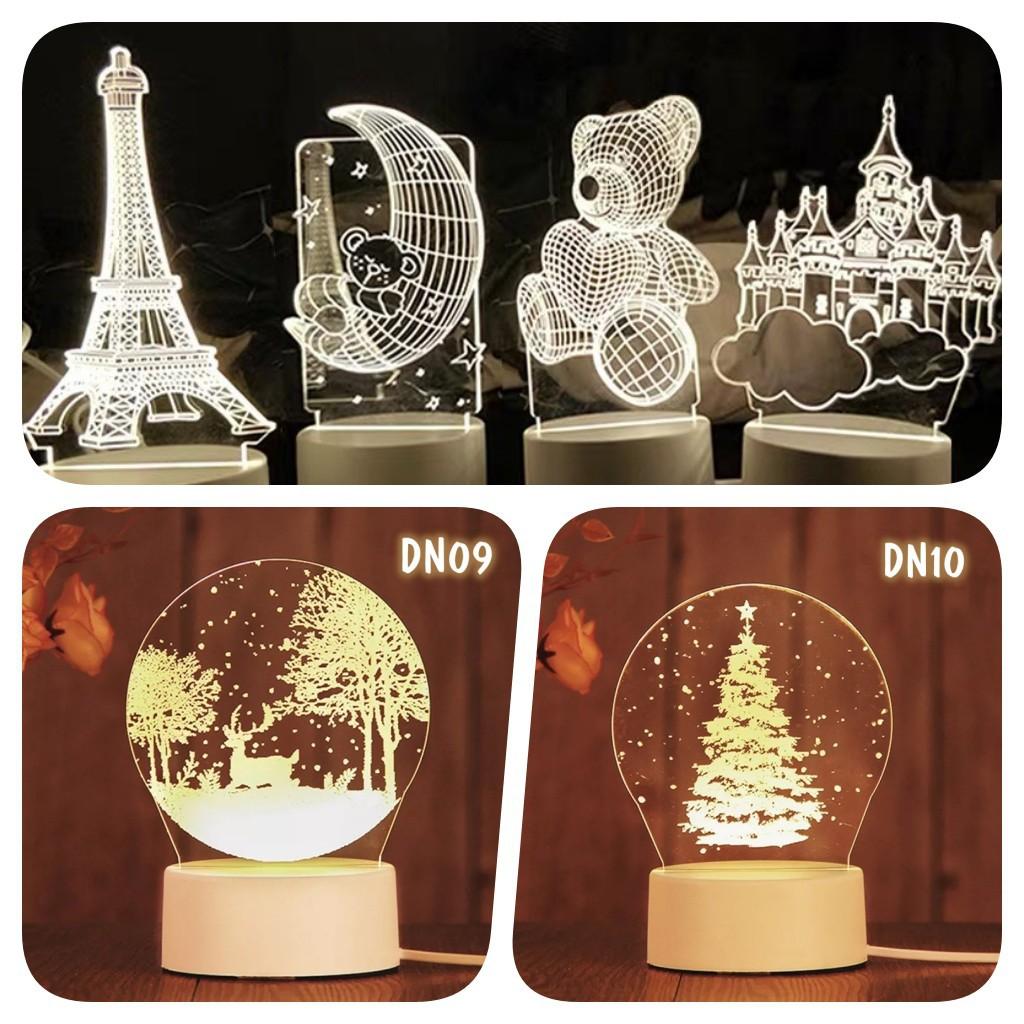 Mặt mica thay thế cho đèn ngủ 3D để bàn, đèn trang trí (Không bao gồm đế đèn)