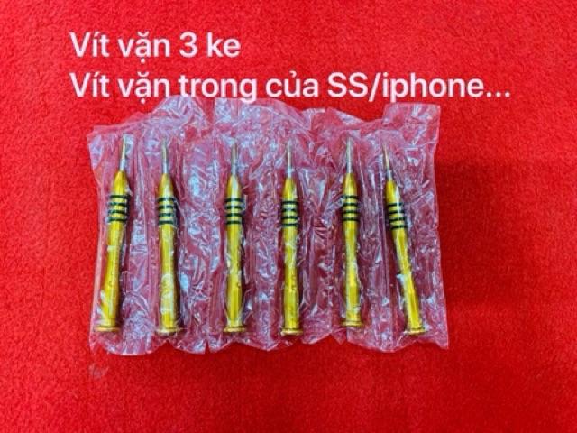 Vít vặn ốc đít iphone  - 3 ke vặn cho samsung, oppo, ốc trong iphone...!