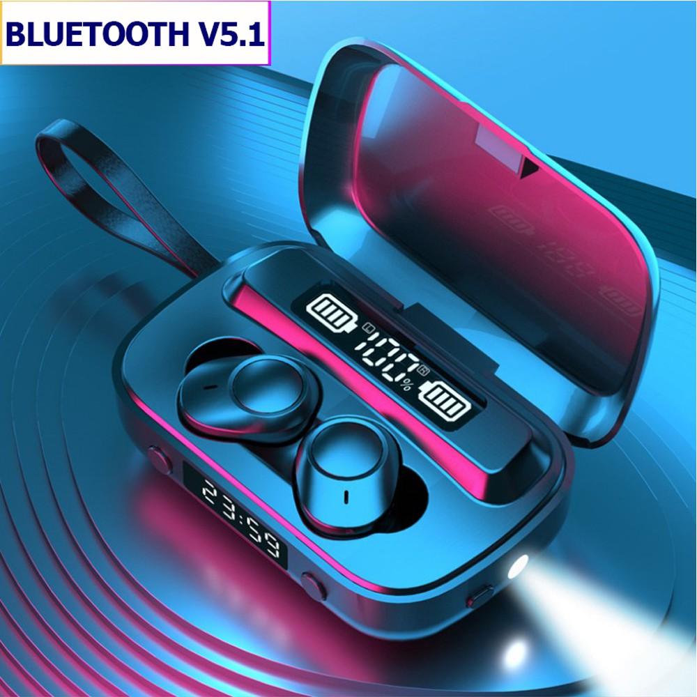 Tai nghe Bluetooth A13, tai nghe không dây âm thanh siêu bass chất lượng cao, tích hợp thêm đồng hồ và đèn chiếu sáng