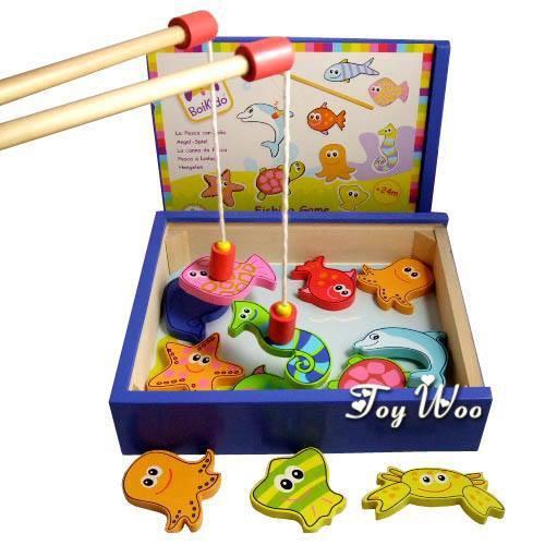 Bộ đồ chơi câu cá nam châm bằng gỗ BOKIDO