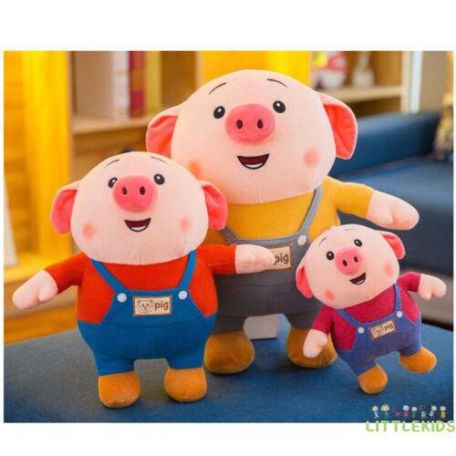 ♟Cute 25cm Cute Pig Piggy Super Soft PP Plush Toys Stuffed Doll Cushion Pillow CA