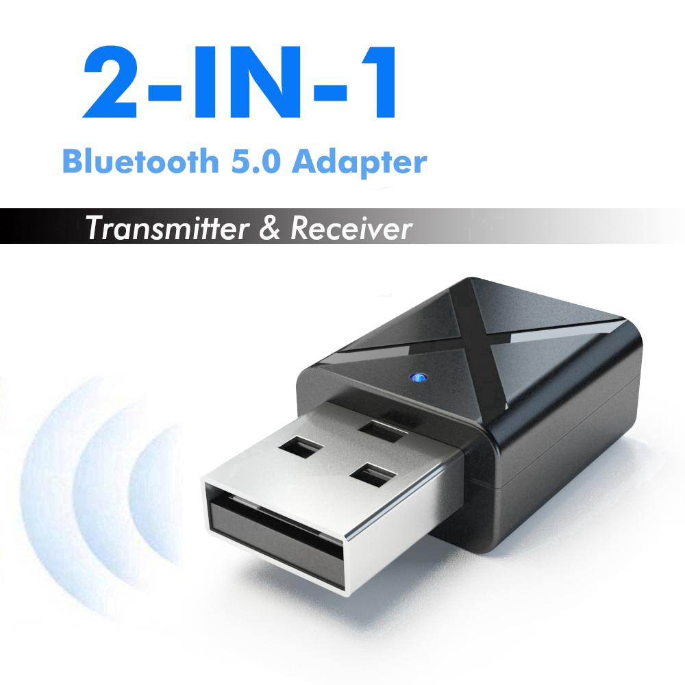 2 In 1 Mini Bluetooth 5.0 Transmitter Receiver Wireless Stereo Audio Adapter