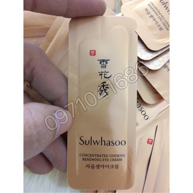 ( 10 gói ) Kem Dưỡng Mắt Sulwhasoo concentrated ginseng renewing eye cream - 2616101 , 486088385 , 322_486088385 , 70000 , -10-goi-Kem-Duong-Mat-Sulwhasoo-concentrated-ginseng-renewing-eye-cream-322_486088385 , shopee.vn , ( 10 gói ) Kem Dưỡng Mắt Sulwhasoo concentrated ginseng renewing eye cream