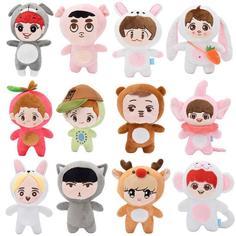 Kpop EXO Bigbang GOT7 Superstar Cartoon Stuffed Dolls