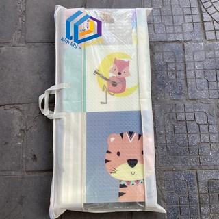 Thảm trải sàn xốp XPE 2 mặt phủ Silicone Hàn Quốc mẫu đẹp chống thấm tuyệt đối, chống ngã, cho bé tập bò kèm túi 1m6- 2m thumbnail