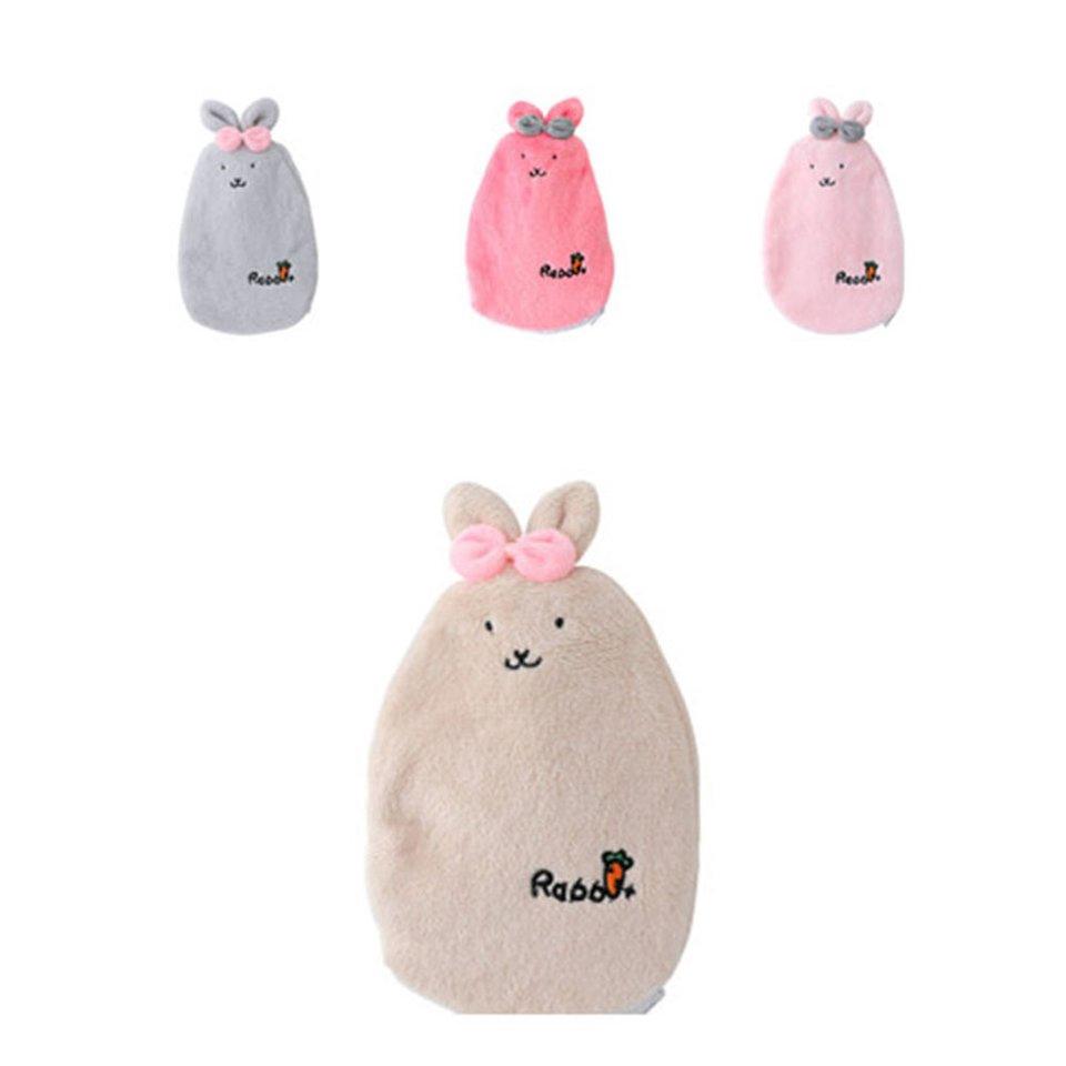Cartoon Rabbit Hand Warmer Washable Hot Water Bottle Cute Plush Warm Water Bag