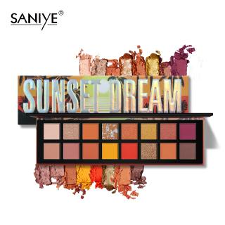 SANIYE Phấn mắt 16 Color Eye Shadow Warm Sun Set Fashionable And Professional Make up T096